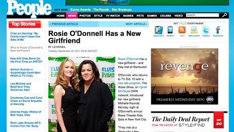ht rosie odonnell nt 110920 wblog Rosie ODonnell Met Her New Girlfriend at Starbucks
