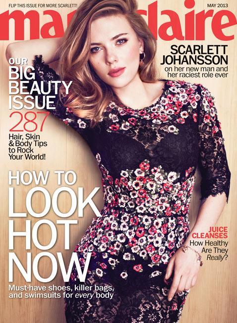 ht scarlett johansson marie claire jef 130409 vblog Scarlett Johansson: My Divorce From Ryan Reynolds Wasnt That Long Ago