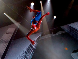 PHOTO: Spider-Man makes his New York debut. A scene from 'SPIDER-MAN Turn Off The Dark'