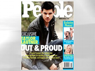 "PHOTO: Taylor Lautner is not ""out and proud,"" as a mock People magazine cover would have you to believe."