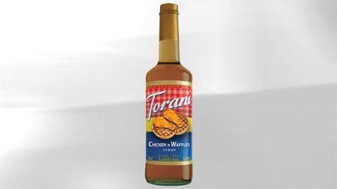ht torani chicken waffles syrup jef 120327 wblog Torani Debuts Chicken n Waffles Flavored Syrup