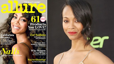 ht zoe saldana allure cover split thg 130515 wblog Zoe Saldana Allure Weight Reveal Stirs Uproar