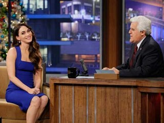 "PHOTO: Megan Fox is interviewed on ""The Tonight Show With Jay Leno"", Dec. 17, 2012."