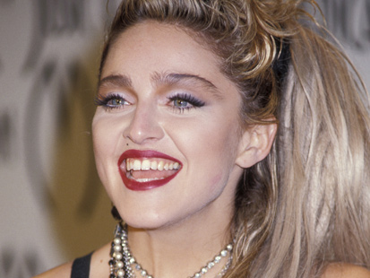 Madonna, for instance, has facial features that could almost be considered