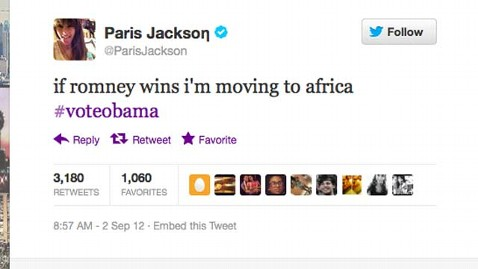 paris jackson tweet romney africa thg 120903 wblog Paris Jackson Tweets Shell Move To Africa If Romney Wins