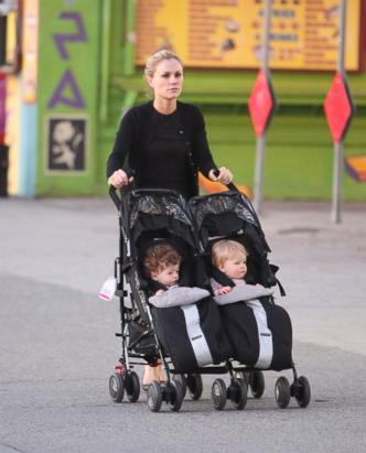 Anna Paquin steps out with her twins