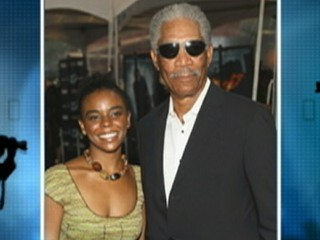 VIDEO: Morgan Freeman says he isn't engaged to his 27-year-old step-granddaughter.