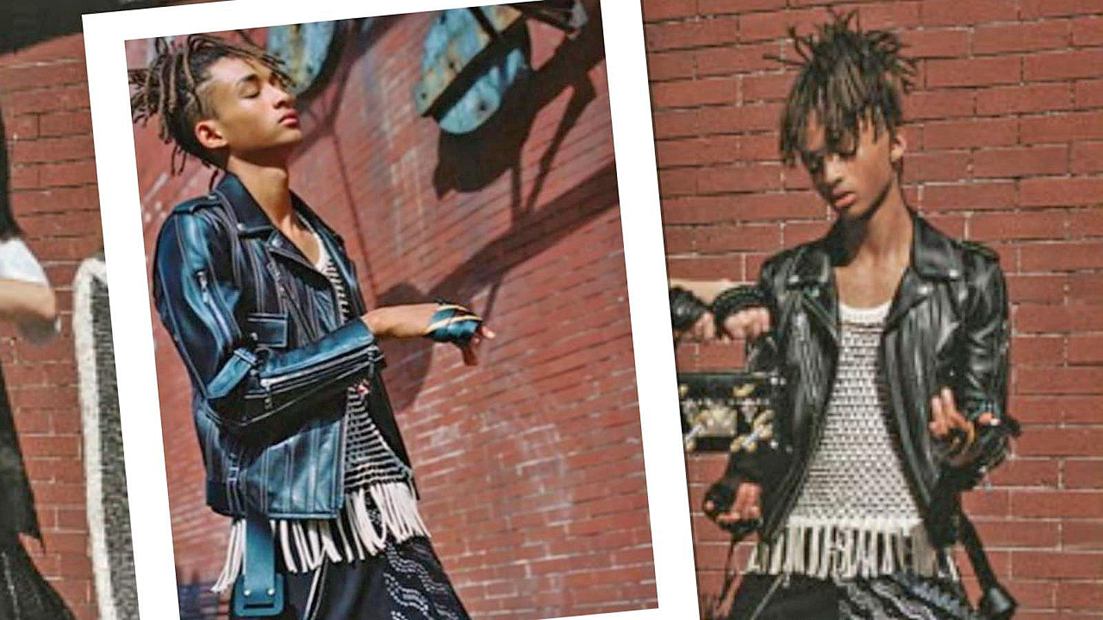 Jaden smith videos at abc news video archive at abcnews video jaden smith sports skirt for louis vuittons womenswear campaign voltagebd Choice Image