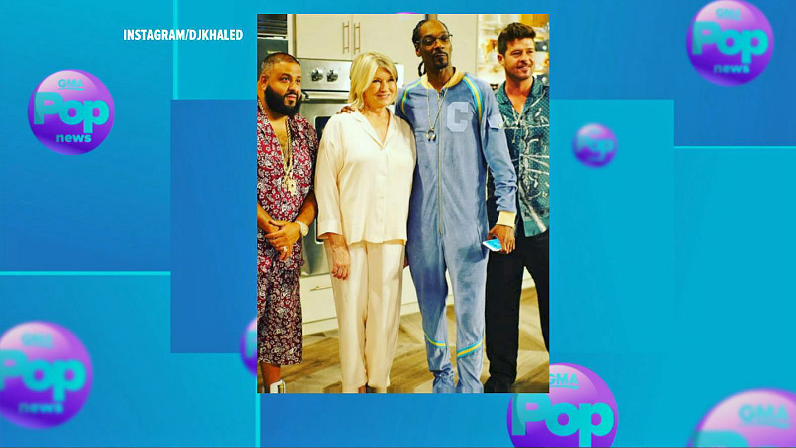 Robin thicke videos at abc news video archive at abcnews video dj khaled robin thicke attend pajama party with snoop dogg and martha stewart nvjuhfo Image collections