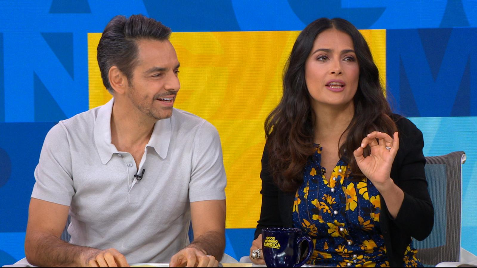 Video: Salma Hayek And Eugenio Derbez Dish On 'how To Be A Latin Lover,'  Reveal Worst Pickup Lines