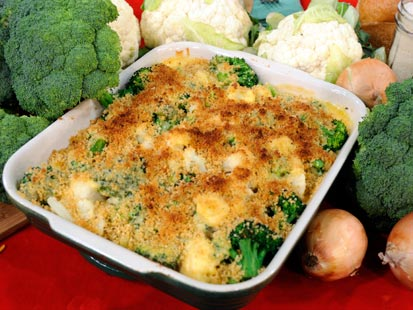 Emeril's Broccoli and Cauliflower Au Gratin