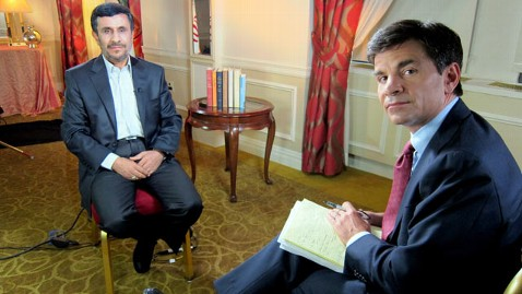 abc Ahmadinejad Stephanopoulos nt 110920 wblog Iranian President Ahmadinejad Guarantees Hikers Release: When We Said We Will Release Them, We Will Release Them