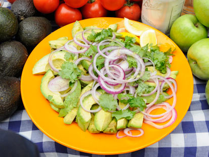 Rocco DiSpirito's Avocado Salad with Red Onion