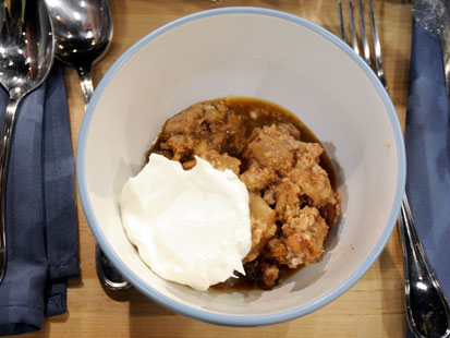 Apple-Pecan Bread Pudding