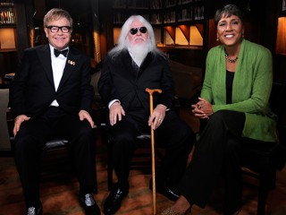 PHOTO In an exclusive interview, Robin Roberts talks to legendary artist Sir Elton John and his idol Leon Russell, prior to their concerts together in New York City.