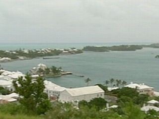 David Kerley reports from Bermuda as residents prepare for the Category 1 storm.