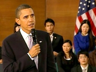 VIDEO: President Obama asks for freedom of speech in China.