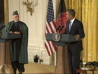 VIDEO:Joint announcement from President Obama and Afghan President Hamid Karzai aim to speed up transition.