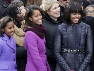 VIDEO: Obama's wife and kids gain a lot of attention for their Inauguration Day style.