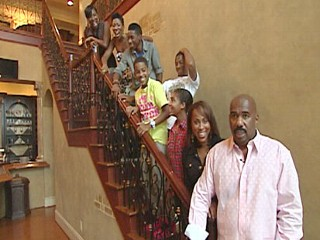 Steve Harvey and his wife have a blended family of seven children from
