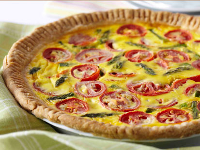 abc tomato asparagaus quiche nt 110303 main Its Pi Day Friday! Eat Pie Today From Morning to Night
