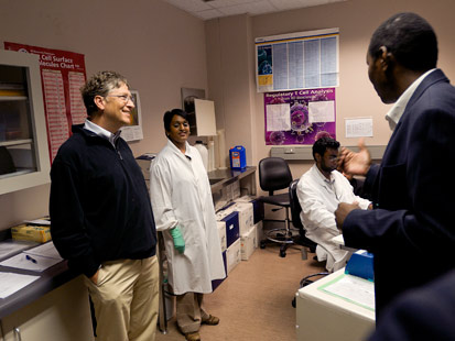 Bill Gates, South Africa, 2009.. Courtesy the Gates Foundation.