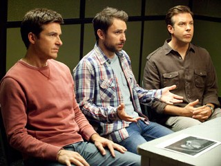 "PHOTO: Jason Bateman stars as Nick, Charlie Day as Dale and Jason Sudeikis as Kurt in New Line Cinema?s comedy ""Horrible Bosses""."