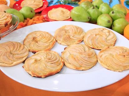 Pear Tartlets with Homemade Creme Fraiche