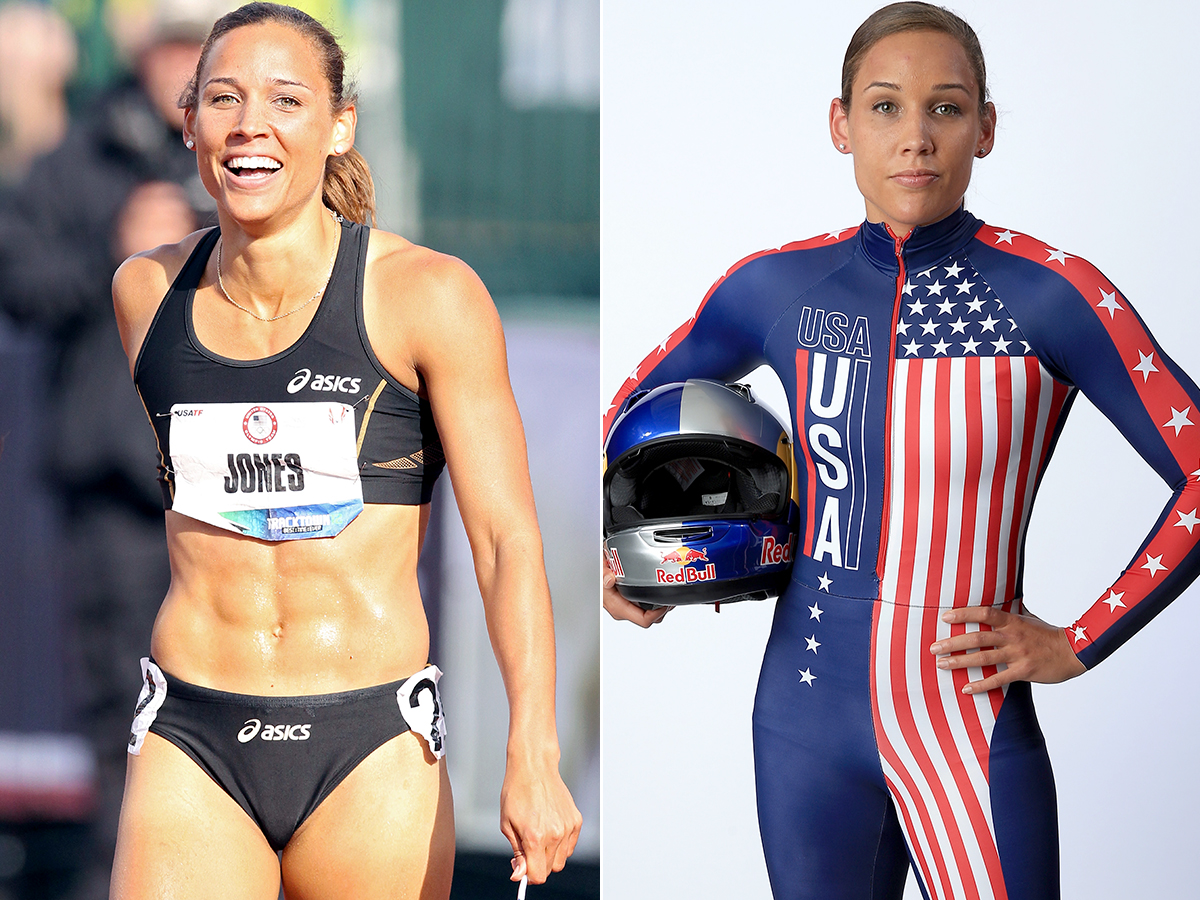GTY lolo jones jef 131001 Track Star Lolo Jones Eats 9,000 Calories to Beef Up for Bobsledding