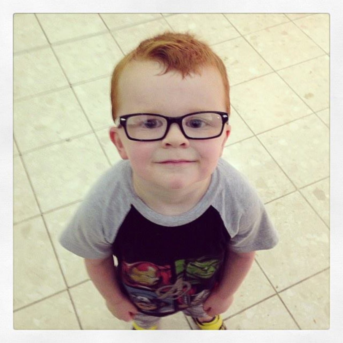 HT glasses for noah lpl 131129 Instant Index: Strangers Support 4 Year Old Upset by New Glasses