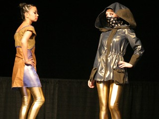 Fashion show with germ-free clothing