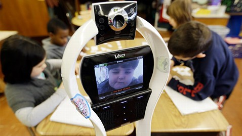 ap devon carrow robot ll 130502 wblog Boy With Severe Allergies Attends School Via Robot