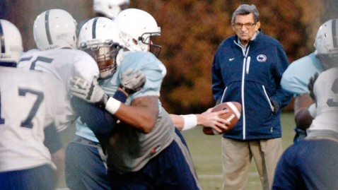 ap paterno football team cc 111110 wblog Penn State Coaches: Shocked Like Everyone Else by Abuse Allegations