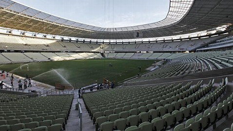epa castelao soccer stadium ll 130305 wblog Obese World Cup Soccer Fans Get Extra Wide Seating in Brazil