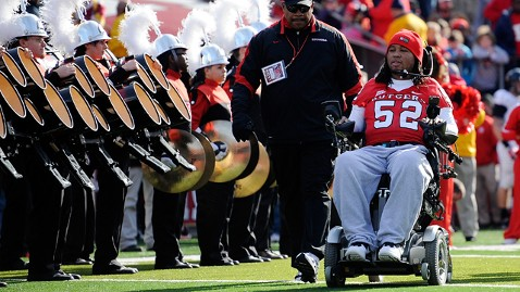 Eric Legrand enters High Point Solutions Stadium to get his jersey retired
