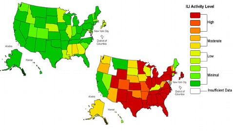 ht flu map mi 130109 wblog Flu Season 2012 13 By the Numbers: How Bad Is It?