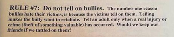 ht nebraska rule 7 kb 140417 75x16 608 Ill Advised School Flier Counsels Kids Not to Rat Out Bullies