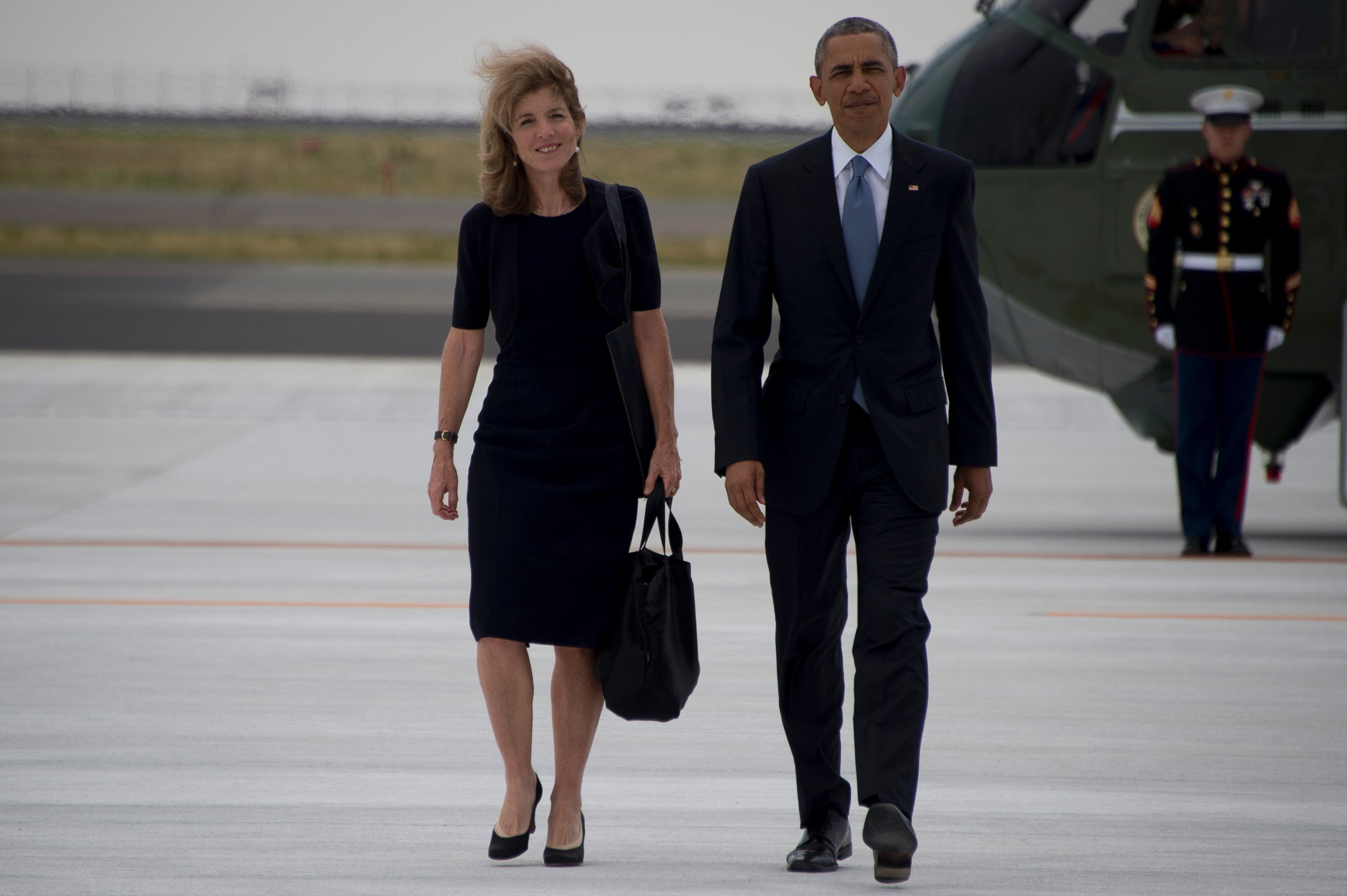 caroline kennedy and her son