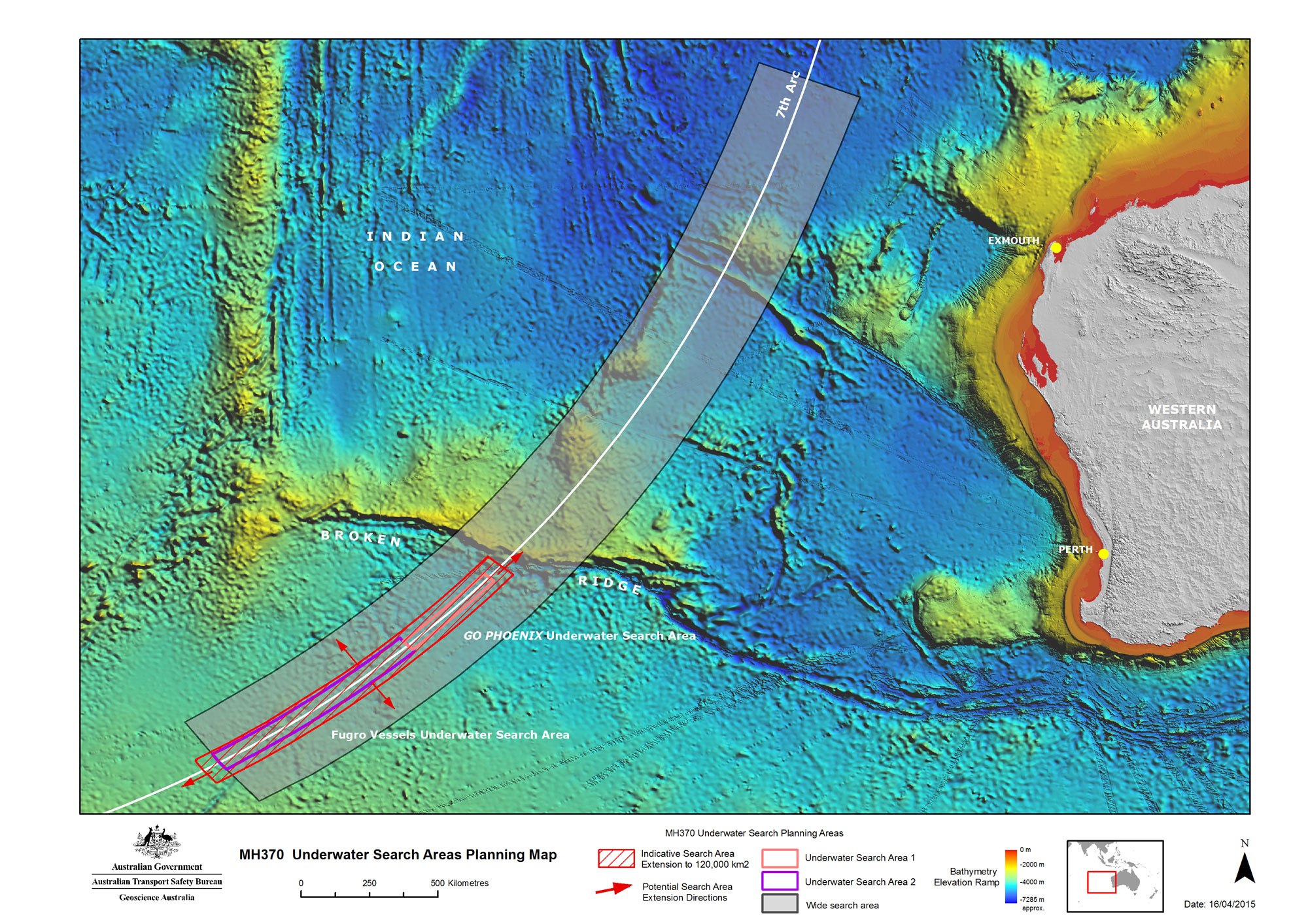 Malaysia airlines plane flight mh370 missing photo an expanded search zone for missing malaysia airlines flight mh370 is seen in a map released april 16 2015 publicscrutiny Image collections