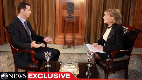 abc walters assad 1 jef 111205 wblog ABC News Exclusive: Syrian President Bashar Al Assad Speaks with Barbara Walters