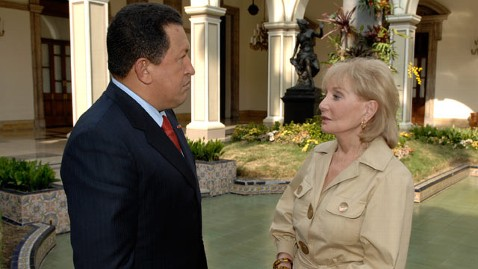 abc walters chavez lpl 130305 wblog Reporters Notebook: Barbara Walters Rare Interview with Hugo Chavez