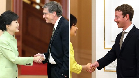 ap epa mark zuckerberg gates dm 130619 wblog Mark Zuckerberg Charms South Koreans With Proper Handshake