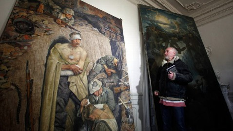 ap hitler found paintings czech republic thg 120228 wblog Adolf Hitlers Lost Paintings On Display
