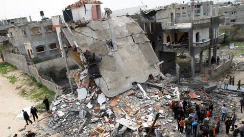 ap israel gaza rocket damage nt 120312 wblog 200 Rockets Hit Israel, 23 Gazans Killed in Return