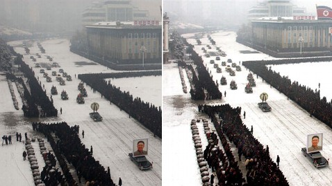 ap kim jong funeral jp 111229 wblog North Korea Restores Order to Kim Funeral With Photoshop