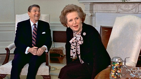 ap margaret thatcher ronald reagan ll 130408 wblog Margaret Thatcher: Britains Most Polarizing PM