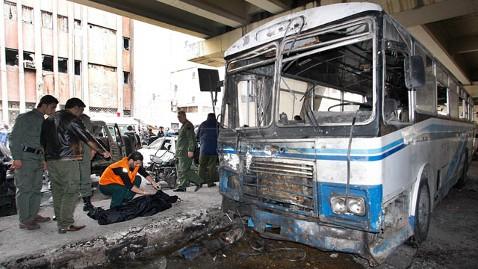 ap mideast syria explosion jp 120106 wblog Deadly Suicide Bombing Rocks Syrian Capital