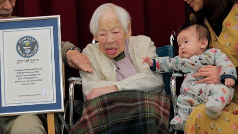 ap misao okawa lpl 130227 wblog Woman, 114, Enters Guinness Book of Records