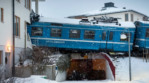 ap sweden train crash dm 130115 wblog Cleaning Woman Crashes Train Into Building