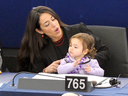 gty 2 licia ronzulli dm 120216 main Italian MEPs Take Your Daughter to Work Day